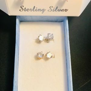 Jewelry - Sterling Silver/Gold Studs NWOT